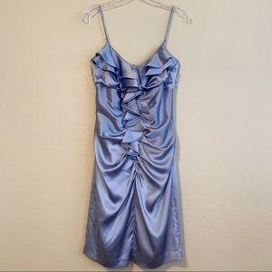 Betsey Johnson Collection Shiny Silk Ruffle Dress